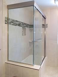 semi frameless bypass corner shower glass door enclosure for tub