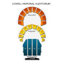 Lowell Memorial Auditorium 2019 Seating Chart