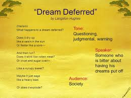 "analysis of langston hughes ""dreams"" and ""harlem a dream  dream deferred by langston hughes"
