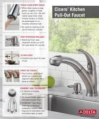 Delta Pull Out Kitchen Faucet Delta Cicero Single Handle Pull Out Sprayer Kitchen Faucet With