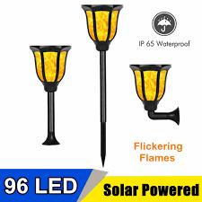 Solar Garden Lights Ebay Details About 96 Led Flickering Outdoor Landscape Lamp Dancing Flame Solar Torch Garden Light