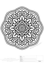 Mandala Color Pages Showideeinfo
