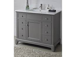 gray 42 inch bathroom vanities