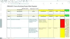 Free Project Planner Template Classy Risk Analysis Template Excel Project Management R Free Assessment