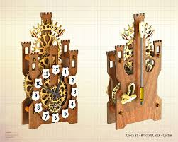 i have designed this clock for my young great grandson with a knights and castle theme i have revisited the spring powered clocks once again to allow the