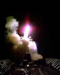「Tomahawk missiles launched off the USS」の画像検索結果