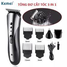 BẢO HÀNH 1 NĂM] Tông đơ cắt tóc đa năng kemei 1407 tông đơ cắt tóc kiêm máy  cạo râu và tỉa lông mũi