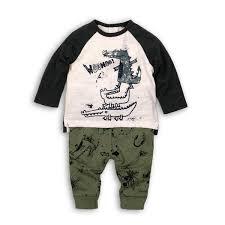 Minoti White Crocodile Shirt With Green Trouser Set 383