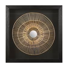 black framed metal wall art