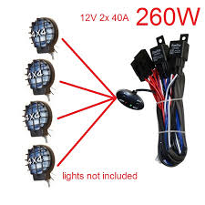 for 4 lamps 12v 260w 2x40a dual relay dual fuse car truck autos Car Fuse Box at Run Nan Fuse Box