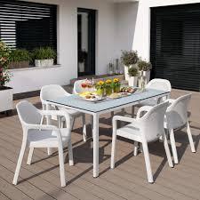 Esstisch Mit Hpl Tischplatte Groß Weiß