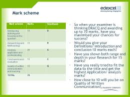 structure report essays need logical form and shape i e structure  4 mark scheme