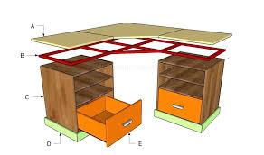 diy corner computer desk plans free diy corner desk plans