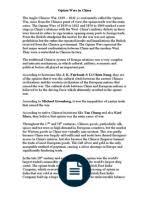 meiji restoration essay samurai opium wars in