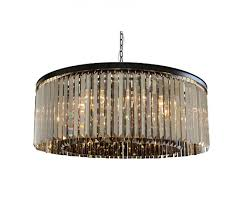 d angelo 12 light round smoked glass crystal prism chandelier