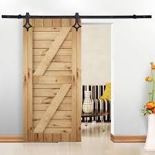 6 ft carbon steel sliding barn door hardware track rail wall mount rhomb shape