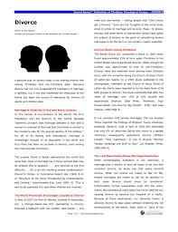 Divorce Essays Sword Series Divorce Foundation For Christian Studies