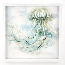hand paintd jellyfish wall art wood ps canvas plexi acrylic