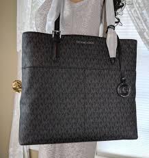 michael kors bedford large pvc leather tote purse handbag nwt