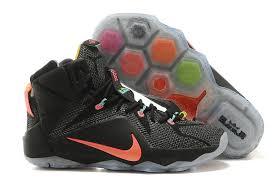 lebron nike basketball shoes. nike lebron xii p.s. elite basketball shoes for men in black orange o
