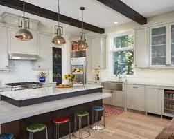 image kitchen island lighting designs. Example Of A Coastal Light Wood Floor And Beige Kitchen Design In Grand Rapids With Image Island Lighting Designs R