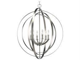 progress lighting equinox burnished silver 28 wide six light chandelier p3889 126