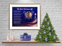 royal blue angel wings with tree art poem in frame with mat