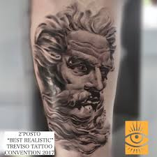 Poseidone Miglior Tatuaggio Realistico 2 Posto Andrea Caso Tattooing