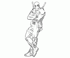 Small Picture Printable Deadpool Coloring Pages Coloringstar Coloring Coloring