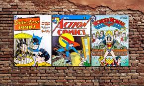 dc comics retro canvas wall art for 22