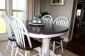 kitchen table makeover using chalk paint after