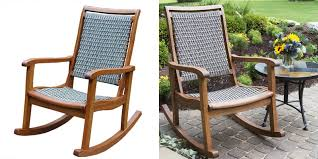 outdoor furniture rocking chairs. Patio Chair Resin Wicker And Eucalyptus Rocking Chair. Full Resolution Picture, Nominally Width Outdoor Furniture Chairs