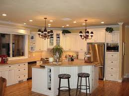 recessed lighting in kitchens ideas. Modern Recessed Lighting And Elegant Chandelier For Country Kitchen Ideas With Simple Layout In Kitchens
