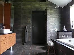 ... Oriental bathroom with doorless shower design ...