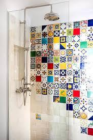 Colourful bathroom tiles -  Costas Picadas/GAP Interiors