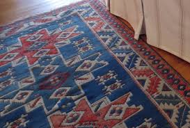red couch blue rug