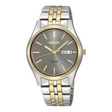 men s watches for jewelry watches jcpenney seiko® mens gray dial two tone stainless steel solar watch sne042