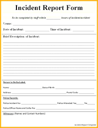 Police Accident Report Template