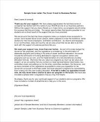 Printable Free Business Partner Email Cover Letter