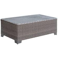 furniture of america glass coffee table furniture of condor glass top patio coffee table in brown