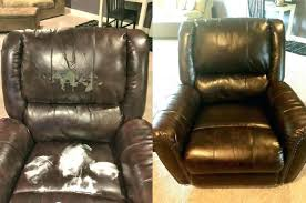 how to repair a leather couch torn seam sofa tear hole