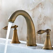 antique brass faucet. Antique Brass Three Holes Brushed Bathroom Sink Faucets Faucet T