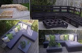 pallet patio furniture collage