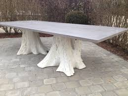 whitewash outdoor furniture. Concrete And White Washed Root Tree Dining Table Whitewash Outdoor Furniture
