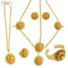 liffly luxury indian jewelry sets for women dubai gold necklace big jewelry five piece set bridal gift wedding set nz 2019 from wdrf nz 23 52 dhgate nz