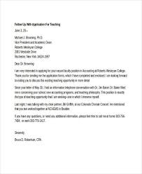 Folow Up Letter Job Application Follow Up 19 Email Letter Templates