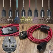 diy cable lighting. Diy Cable Lighting Unique Details About Fabric Flex Plug In  Pendant Lamp Light Set Es Diy Cable Lighting .