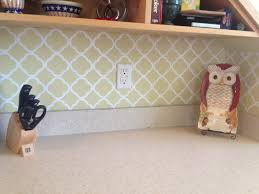 Kitchen Backsplash Wallpaper Kitchen Design Awesome Faux Subway Tile Wallpaper Backsplash