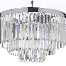 odeon crystal glass fringe 3 tier chandelier chandeliers lighting chrome finish g7 2164 9 by gallery lighting on opensky