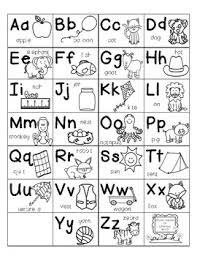 Alphabet Chart Black And White Writing Abc Chart Saxon Phonics Anchor Chart